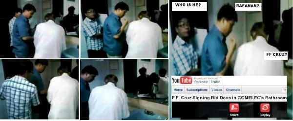 YOUTUBE RAFARANAN FF CRUZ IN COMELEC TOILET MONTAGE