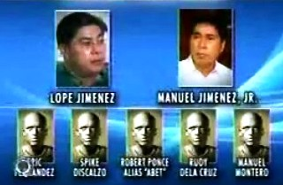 SUSPECTS ATTY MANUEL JIMENEZ JR LOPE LOPE AND 5 JOHN DOES