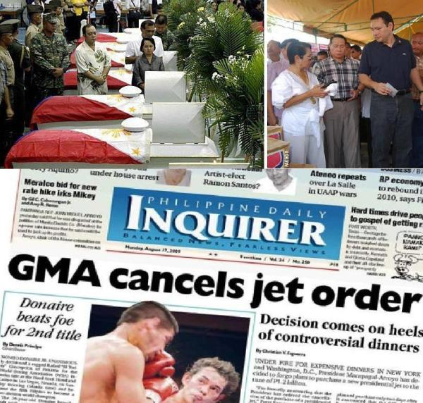 GMA WITH DEAD SOLDIERS AND TEODORO PLANE MONTAGE