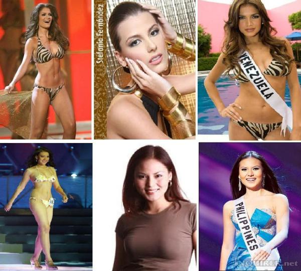 MISS VENEZUELA 2009 IS MS UNIVERSE 200 STEFANIA ENRIQUEZ WITH BIANCA MANALO MONTAGE