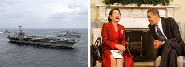 uss geaorge wash and obama arroyo montage