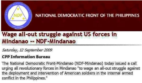 ndf story on us minda troops