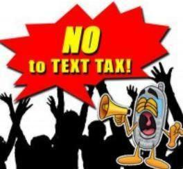 no to text tax logo
