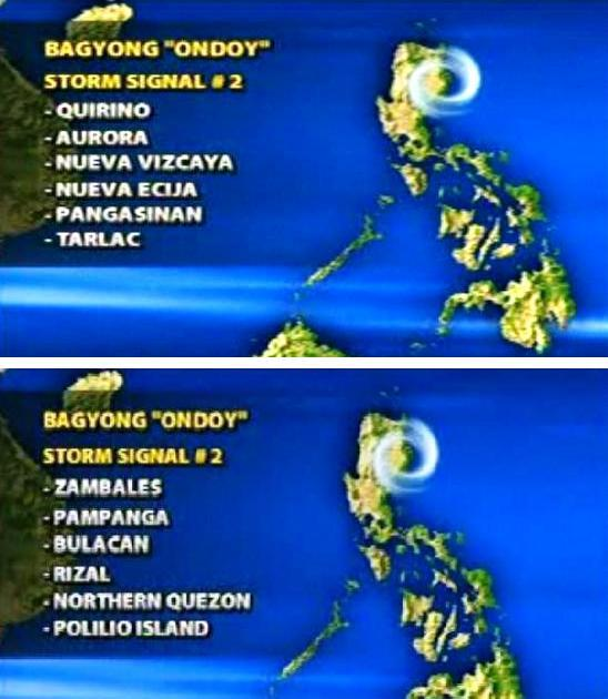 ONDOY STORM SIGNALS GRFX 1 and 2