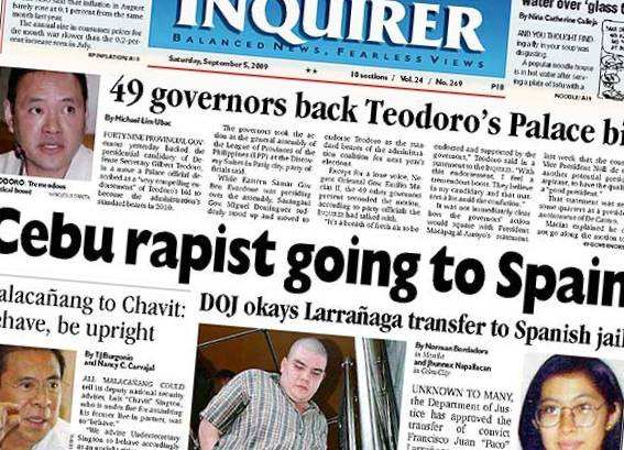 PDI PAGE ONE 20090905 RAPIST RELEASE cropped 1