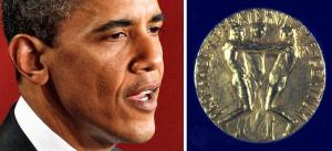 obama nobel medal montage