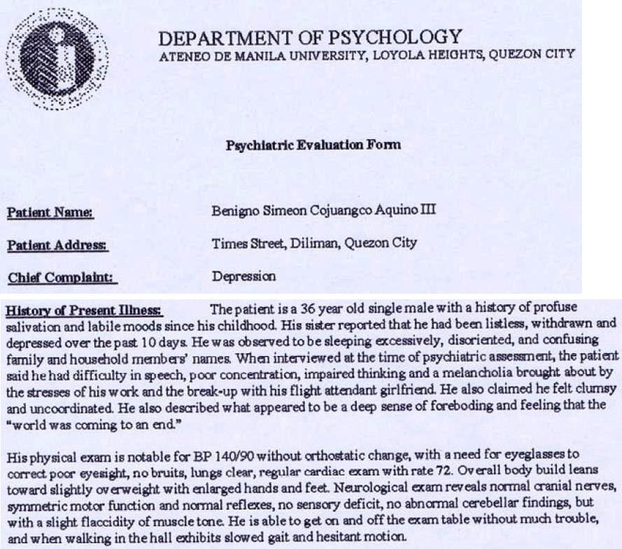 Noynoy Under Attack Updated – Psychological Report